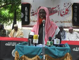 Sheikh Abdulkadir Mumin vid ett tidigare framträdande för al-Shabaab.