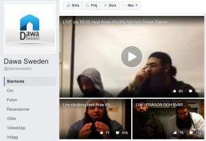 Skärmdump från Dawa Swedens facebooksida.